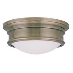 Livex Lighting Astor Antique Brass Flushmount Light