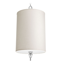 Progress Lighting Status Polished Chrome Pendant Light with Cylindrical Shade