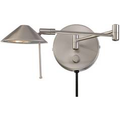 Lite Source Lighting Rhine Polished Steel Swing Arm Lamp