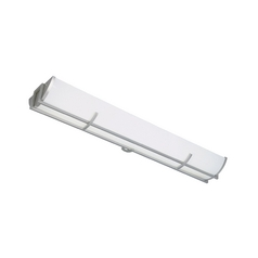 Modern Flushmount Light with White in Satin Platinum Finish