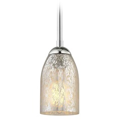 Chrome Mini-Pendant Light Mercury Glass