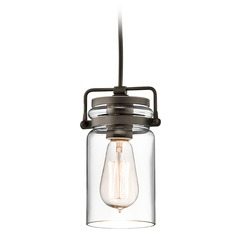 Kichler Lighting Brinley Olde Bronze Mini-Pendant Light with Cylindrical Shade