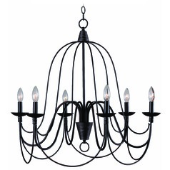 Kenroy Home Lighting Pannier Oil Rubbed Bronze with Silver Highlights Chandelier