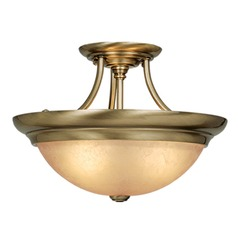 Semi-Flush Mount Antique Brass Semi-Flushmount Light by Vaxcel Lighting