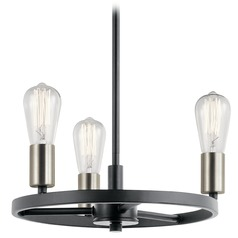 Transitional Mini-Chandelier Black Brooklyn by Kichler Lighting