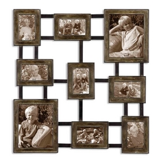 Uttermost Lighting Wall Art in Silver / Aged Black Finish 13541