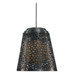 Kenroy Home Lighting Tunis Dark Gray Zinc Pendant Light with Empire Shade