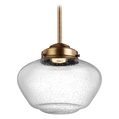 Feiss Lighting Alcott Aged Brass LED Mini-Pendant Light