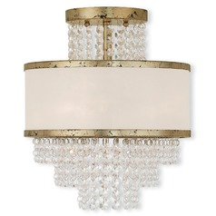 Livex Lighting Prescott Hand Applied Winter Gold Semi-Flushmount Light