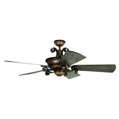 Craftmade Lighting Seville Espana Spanish Bronze Ceiling Fan with Light