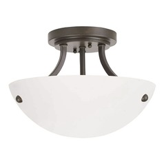 Umbria Olde World Iron Semi-Flushmount Light
