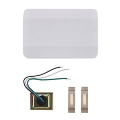 Doorbell Chime Kit with 2 Satin Nickel Doorbell Buttons and Transformer - 2 Notes