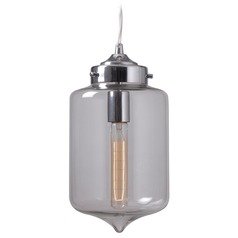 Mid-Century Modern Mini-Pendant Light Chrome Casey by Kenroy Home