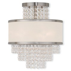 Livex Lighting Prescott Brushed Nickel Semi-Flushmount Light