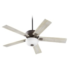 Quorum Lighting Rothman Oiled Bronze Ceiling Fan with Light