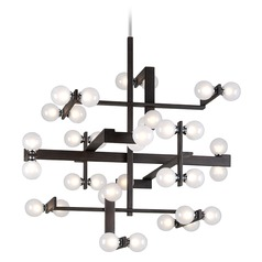 Troy Lighting Network Forest Bronze / Chrome Pendant Light with Globe Shade