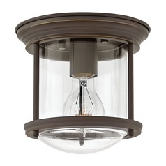 Industrial Oil Rubbed Bronze Flushmount Light by Hinkley Lighting