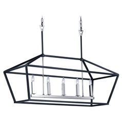 Maxim Lighting Abode Textured Black / Polished Nickel Chandelier
