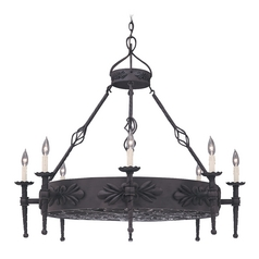 Chandelier in Natural Iron Finish
