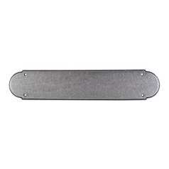Push Plate in Pewter Finish