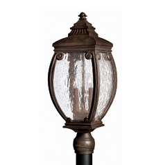 Water Seeded Glass Post Light Bronze Hinkley Lighting