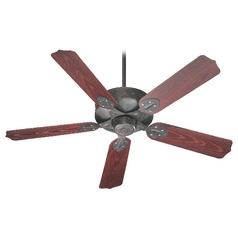Quorum Lighting Hudson Toasted Sienna Ceiling Fan Without Light