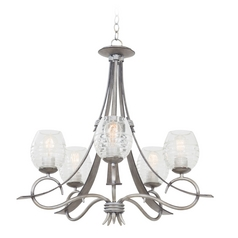 Kalco Lighting Seabrook Moon Silver Chandelier
