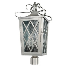 Kalco Trellis Brushed Stainless Steel Post Light