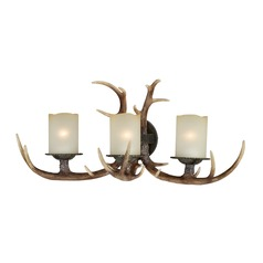 Yoho Faux Antler and Black Walnut Bathroom Light
