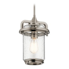 Seeded Glass Pendant Light Pewter Andover by Kichler Lighting
