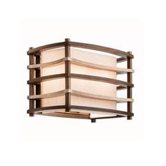 Kichler Lighting Kichler Sconce Wall Light with White Shades in Cambridge Bronze Finish 42060CMZ