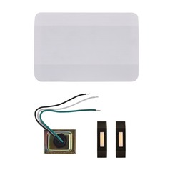 Doorbell Chime Kit with 2 Bronze Doorbell Buttons and Transformer - 2 Notes