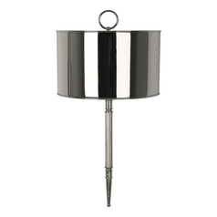 Mid-Century Modern Wall Lamp Polished Nickel Porter by Robert Abbey