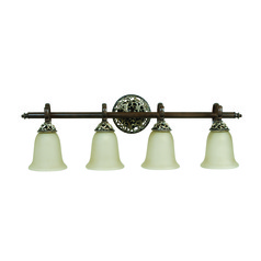Craftmade Mia Aged Bronze, Vintage Madera Bathroom Light