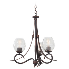 Kalco Lighting Seabrook Antique Copper Mini-Chandelier