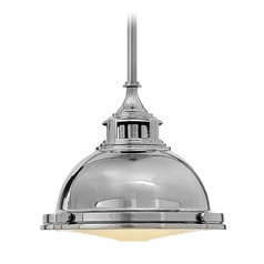 Hinkley Lighting Amelia Polished Nickel Mini-Pendant Light with Bowl / Dome Shade