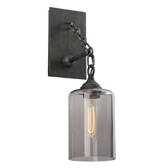 Troy Lighting Gotham Aged Silver Sconce
