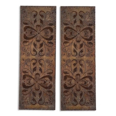 Uttermost Lighting Wall Art in Rust Brown Finish 13643