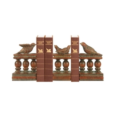 Sterling Lighting Birds on a Bannister Decorative Bookend Set 93-8390