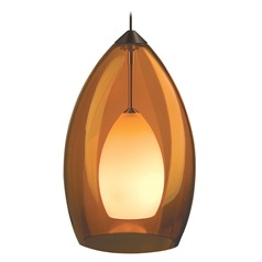 Fire Antique Bronze Mini-Pendant Light by Tech Lighting