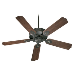Quorum Lighting Hudson Old World Ceiling Fan Without Light