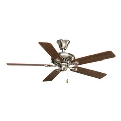 Progress Lighting Signature Brushed Nickel Ceiling Fan Without Light