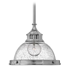 Hinkley Lighting Amelia Chrome Mini-Pendant Light with Bowl / Dome Shade