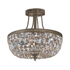 Crystorama Lighting Ceiling Mount English Bronze Semi-Flushmount Light