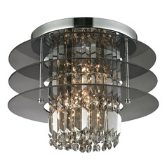 Elk Lighting Zoey Polished Chrome Semi-Flushmount Light
