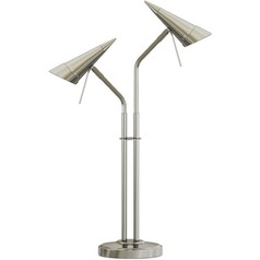 Lite Source Talbot Polished Steel Table Lamp with Conical Shade