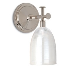 Currey and Company Sylvian Polished Nickel Sconce