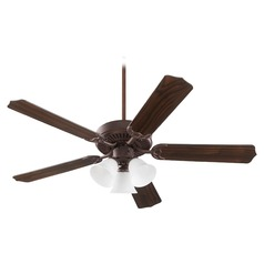 Quorum Lighting Capri Vi Toasted Sienna Ceiling Fan with Light