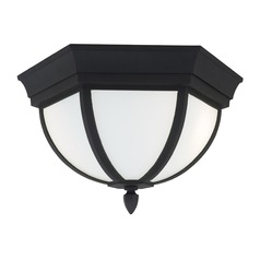 Sea Gull Lighting Wynfield Black Close To Ceiling Light