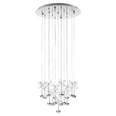 Eglo Pianopoli Chrome LED Multi-Light Pendant